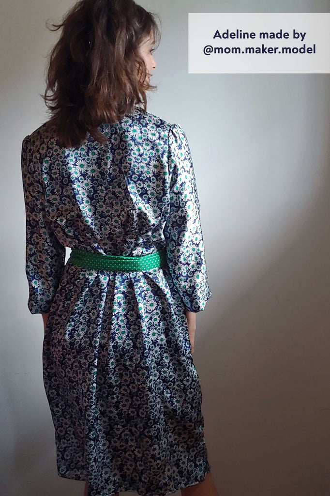 Forget-Me-Not Adeline wrap dress tester make rear view