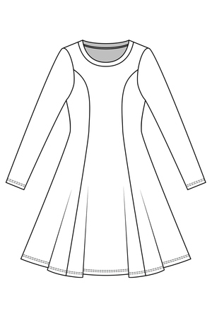 Clementine - Knit dress and top (PDF Pattern)
