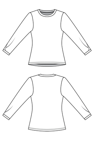 Iris - Pleated tee (PDF Pattern)