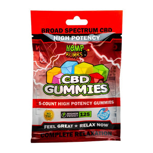 High Potency CBD Gummies 5ct - 125mg