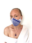"Blue ""inSALAAM inSHALOM"" Mask"