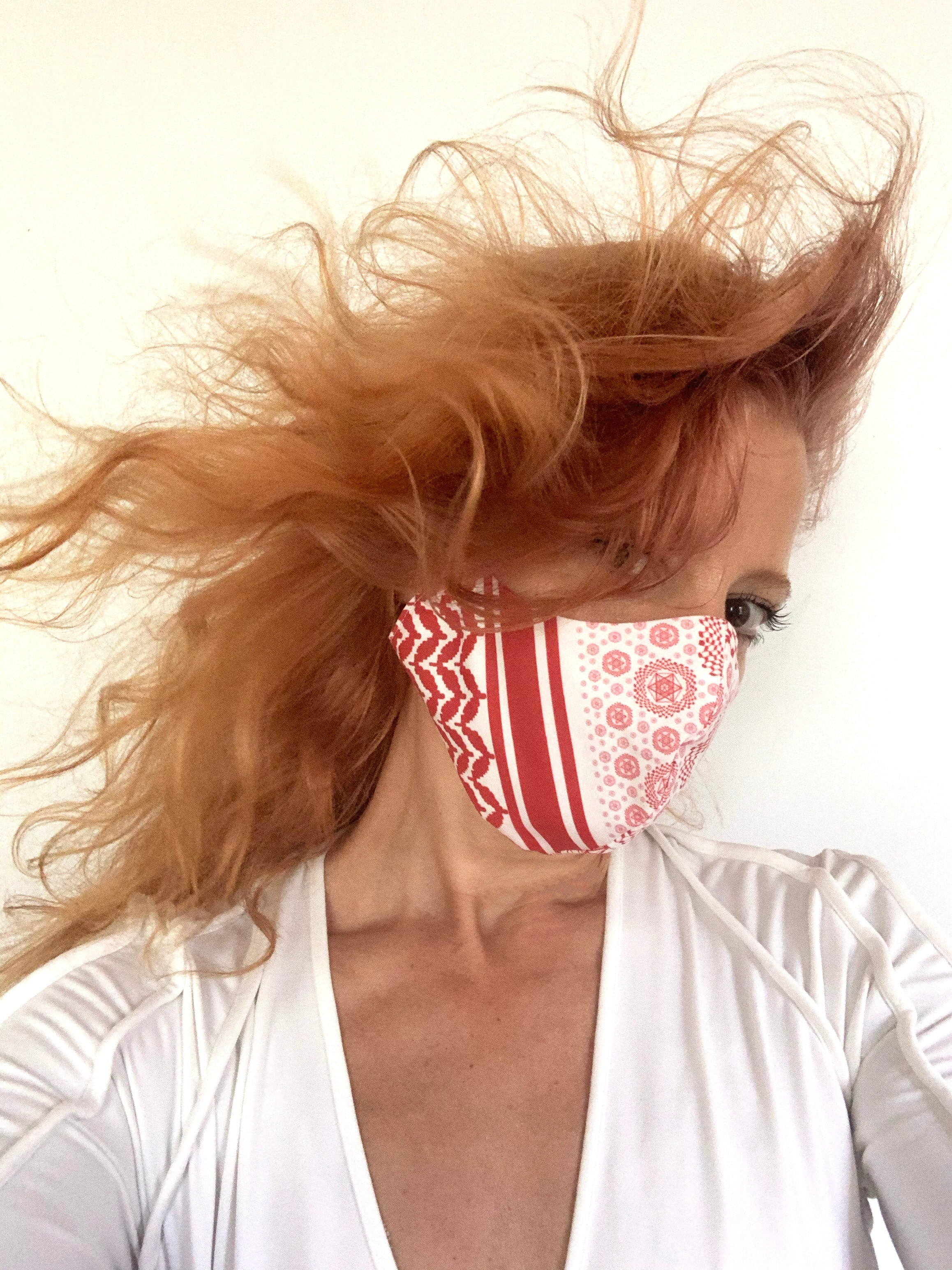 "Red ""inSALAAM inSHALOM"" Mask"