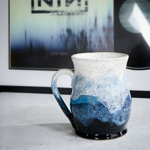 Misty Mountains Mug, Sapphire - Handmade Ceramics from Ice + Dust Pottery