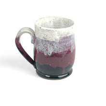 Load image into Gallery viewer, Colorblock Mug in Shadow, Sugarplum, and Snow - Handmade Ceramics from Ice + Dust Pottery