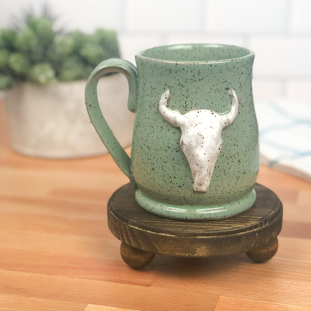 Longhorn Bull Skull Mug, Medium - Handmade Ceramics from Ice + Dust Pottery