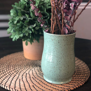 Speckled Vases in Succulent Green - Handmade Ceramics from Ice + Dust Pottery