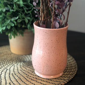 Speckled Vases in Strawberry Pink - Handmade Ceramics from Ice + Dust Pottery