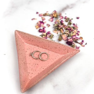 Triangle Trinket Dishes - Handmade Ceramics from Ice + Dust Pottery