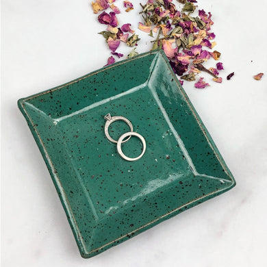 Square Trinket Dishes - Handmade Ceramics from Ice + Dust Pottery