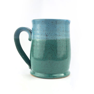 Colorblock Mug, Medium, Shamrock and Sky - Handmade Ceramics from Ice + Dust Pottery