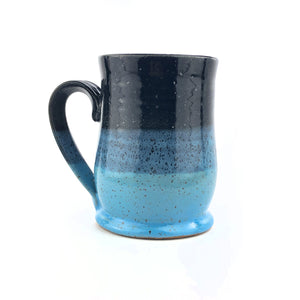 Colorblock Mug, Medium, Shadow and Sky - Handmade Ceramics from Ice + Dust Pottery