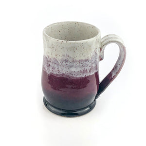 Colorblock Mug in Shadow, Eggplant and Snow