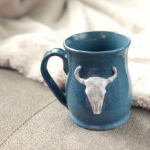 Load image into Gallery viewer, Longhorn Bull Skull Mug, Large - Handmade Ceramics from Ice + Dust Pottery