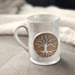 Tree of Life Mugs, Medium - Handmade Ceramics from Ice + Dust Pottery