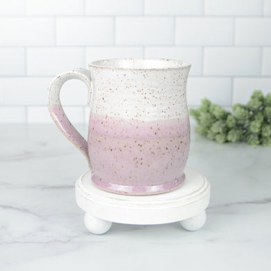 Colorblock Mug, Sweetpea and Snow - Handmade Ceramics from Ice + Dust Pottery