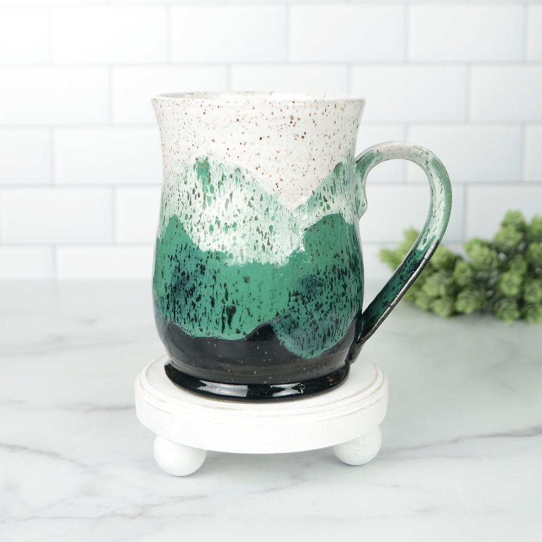 Misty Mountains Mug, Shamrock - Handmade Ceramics from Ice + Dust Pottery