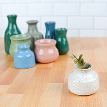 Load image into Gallery viewer, Bud Vases — Maker's Choice - Handmade Ceramics from Ice + Dust Pottery