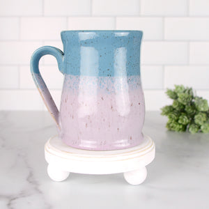 Colorblock Mug, Sweetpea and Sapphire - Handmade Ceramics from Ice + Dust Pottery