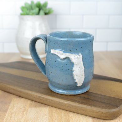 Florida Mug, Medium - Handmade Ceramics from Ice + Dust Pottery