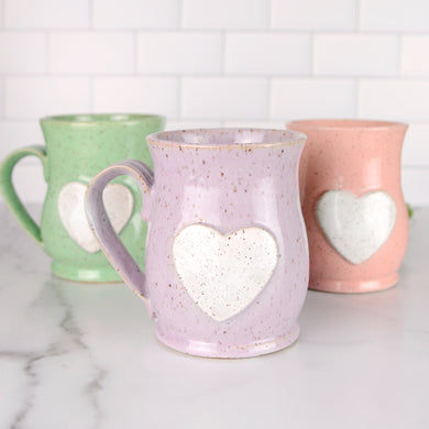 Heart Mug, Medium - Handmade Ceramics from Ice + Dust Pottery