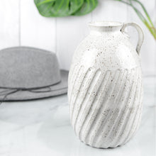 Load image into Gallery viewer, Speckled Vases in Snow White - Handmade Ceramics from Ice + Dust Pottery