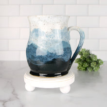 Load image into Gallery viewer, Misty Mountains Mug, Sapphire - Handmade Ceramics from Ice + Dust Pottery
