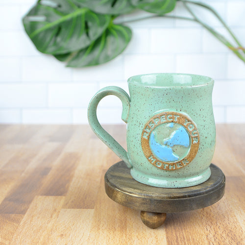 Respect Your Mother Earth Mug, Small - Handmade Ceramics from Ice + Dust Pottery