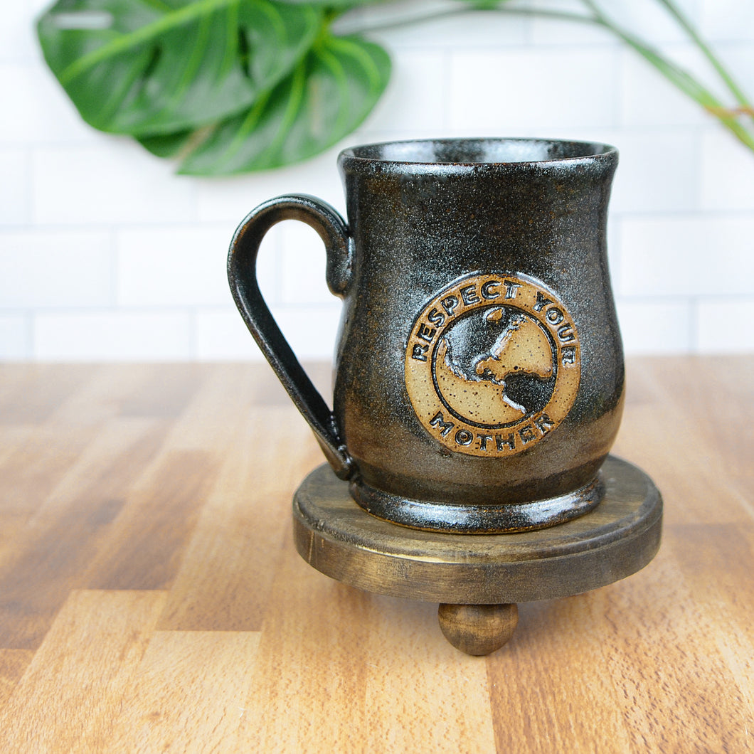 Respect Your Mother Earth Mug, Medium - Handmade Ceramics from Ice + Dust Pottery