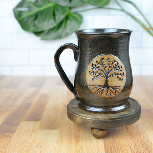 Tree of Life Mugs, Large - Handmade Ceramics from Ice + Dust Pottery