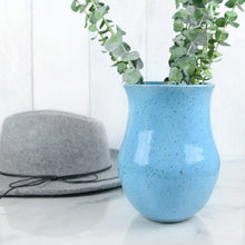 Load image into Gallery viewer, Speckled Vases in Sky Blue - Handmade Ceramics from Ice + Dust Pottery
