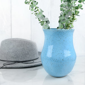 Speckled Vases in Sky Blue - Handmade Ceramics from Ice + Dust Pottery