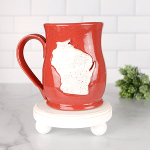 Wisconsin Mug, Medium - Handmade Ceramics from Ice + Dust Pottery