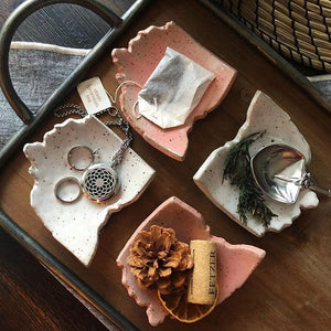 Ohio Trinket Dishes - Handmade Ceramics from Ice + Dust Pottery