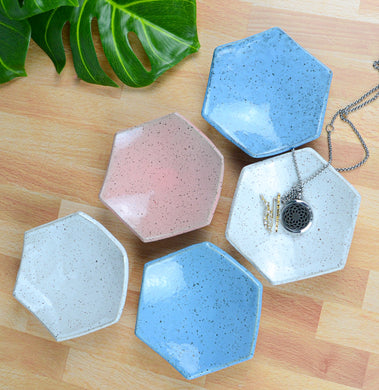 Hexagon Trinket Dishes - Handmade Ceramics from Ice + Dust Pottery