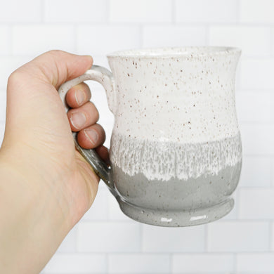 Colorblock Mug, Slate and Snow - Handmade Ceramics from Ice + Dust Pottery
