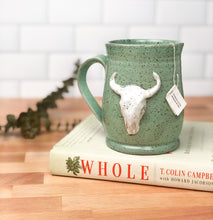 Load image into Gallery viewer, Longhorn Skull Mug, Large - Handmade Ceramics from Ice + Dust Pottery