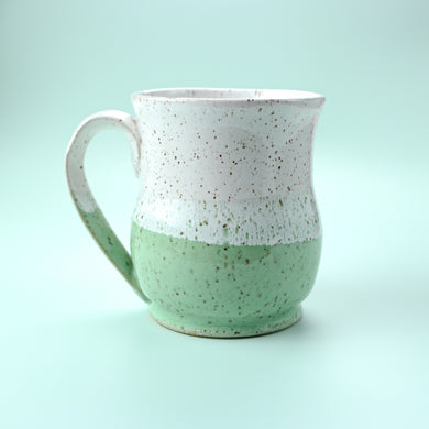Colorblock Mug, Succulent and Snow - Handmade Ceramics from Ice + Dust Pottery