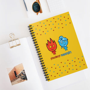 Fireboy&Watergirl Spiral Notebook - Ruled Line (Yellow)