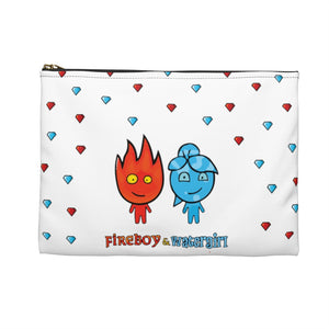 Fireboy&Watergirl Accessory Pouch (White)