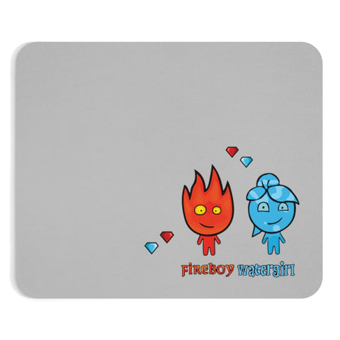 Watergirl&Fireboy Mousepad (Gray)
