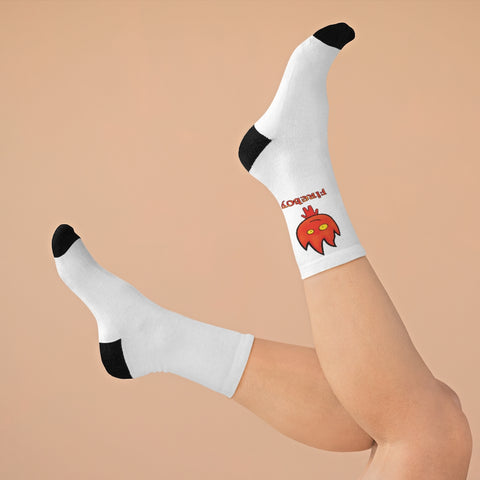 Image of Fireboy DTG Socks (White)