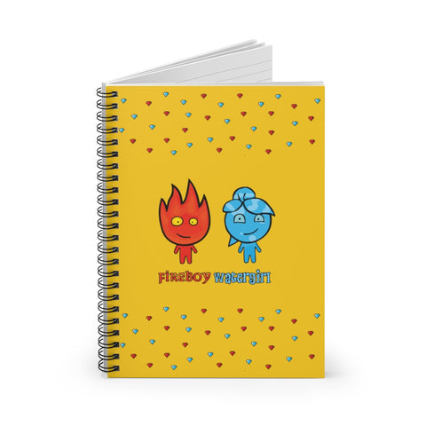 Image of Fireboy&Watergirl Spiral Notebook - Ruled Line (Yellow)