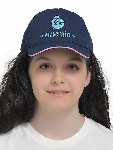 watergirl cap on model