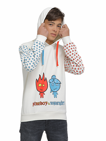 Image of fireboy sweatshirt on model