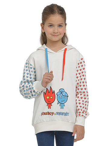 Image of fireboy watergirl sweatshirt on model