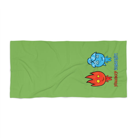 Watergirl&Fireboy Beach Towel (Green)