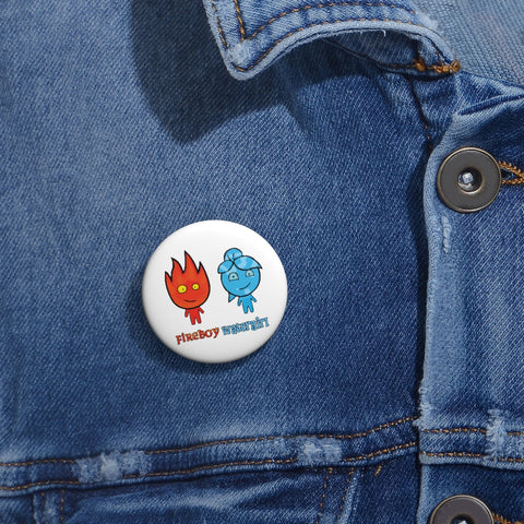 Image of Watergirl&Fireboy Custom Pin Buttons