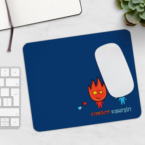Watergirl&Fireboy Mousepad (Blue)