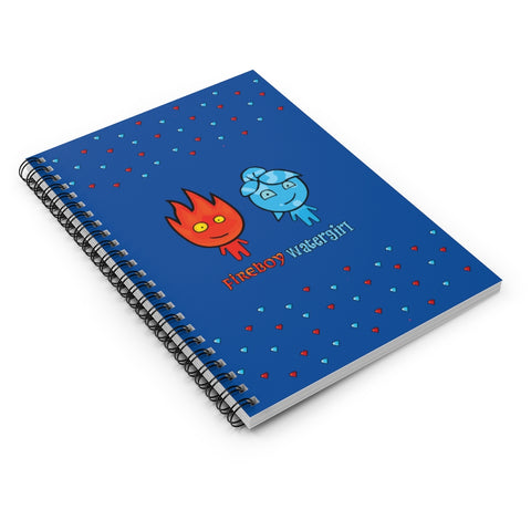 Fireboy&Watergirl Spiral Notebook - Ruled Line (Blue)