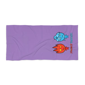 Watergirl&Fireboy Beach Towel (Purple)